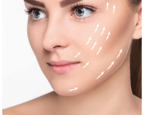 52276197 - the young female with clean fresh skin, antiaging and lifting concept